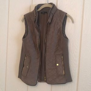 Fate Rowen Suede Quilted Vest